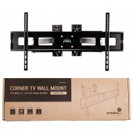 "InstallerParts 37""-65"" TV Corner Mount – Swivel/Tilt – 20"" Dual Extension Arm – Heavy Duty LCD LED TV Monitor Flat Panel Screen, HDMI Cable"
