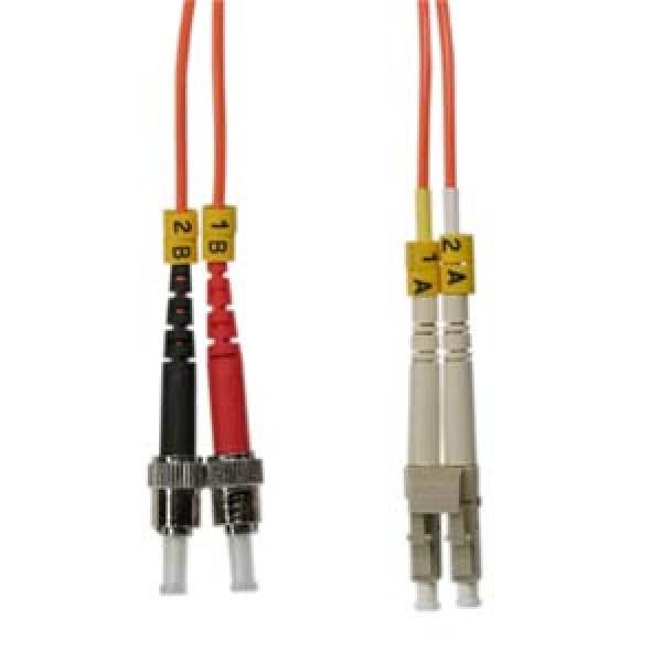 2m ST-LC Duplex Multimode 62.5/125 Fiber Optic Cable