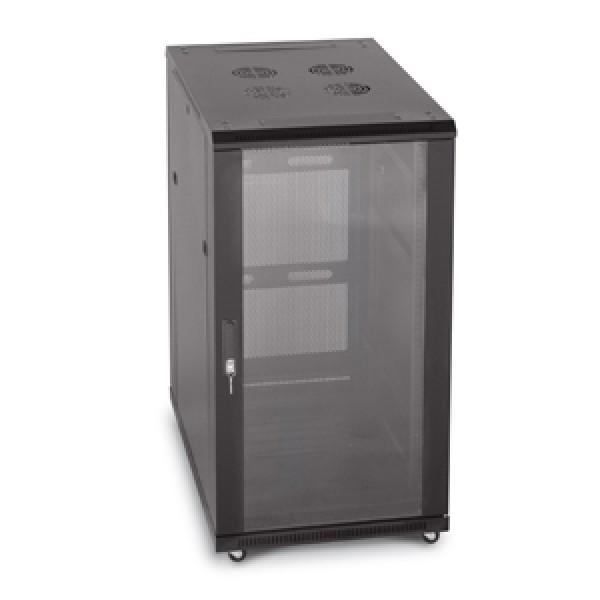 22U Server Rack, Glass Front/Vented Rear