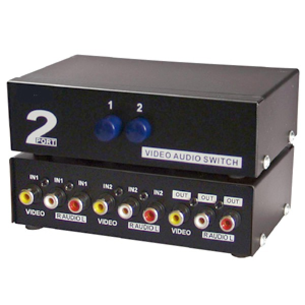 2 Way Audio Video (3RCA) Input Selector