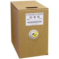 1000Ft Cat.5E Solid Wire Bulk Cable Yellow CMR