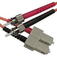 10m ST-SC Duplex Multimode 50/125 Fiber Optic Cable