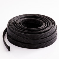 """Expandable Braided Cable Sock Black 1/2""""(12.7mm) x 50Ft(15.24m )"""