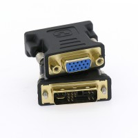InstallerParts DVI-A Male (12+5) / VGA (DB15HD) Female Adapter Gold Plated