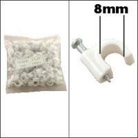 Nail-in Clip for RG6 White 100pack