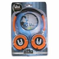 High Definition Ear-Cup Headphones, Orange