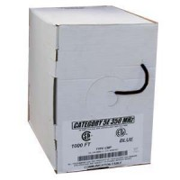 1000Ft Cat.5E Solid Cable Plenum Black, UL/ETL/CSA