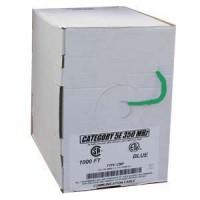1000Ft Cat.5E Solid Cable Plenum Green, UL/ETL/CSA