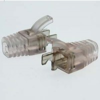 InstallerParts RJ45 Strain Relief Boot for Cat 5E UTP Clear 100pack