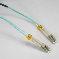 InstallerParts 12m LC-LC 10Gb 50/125 OM3 M/M Duplex Fiber Cable Aqua Jacket
