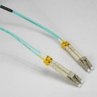 InstallerParts 6m LC-LC 10Gb 50/125 OM3 M/M Duplex Fiber Cable Aqua Jacket