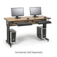 "60"" W x 24"" D Training Table - Caramel Apple"