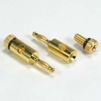 Banana Plug Gold Plated Metal Plug, Black