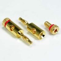 Banana Plug Gold Plated Metal Plug, Red