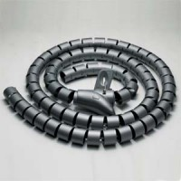 """Spiral Cable Zip Wrap Black 20mm x 1.5m (0.8"""" x 4.92Ft)"""