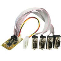 4-port RS-232 PCIe MiniCard Serial Board with Power Output