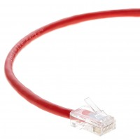 0.5 FT Ethernet Cable CAT5E Cable UTP Non-Booted - Red - Professional Series - 1Gigabit/Sec Network / Internet Cable, 350MHZ